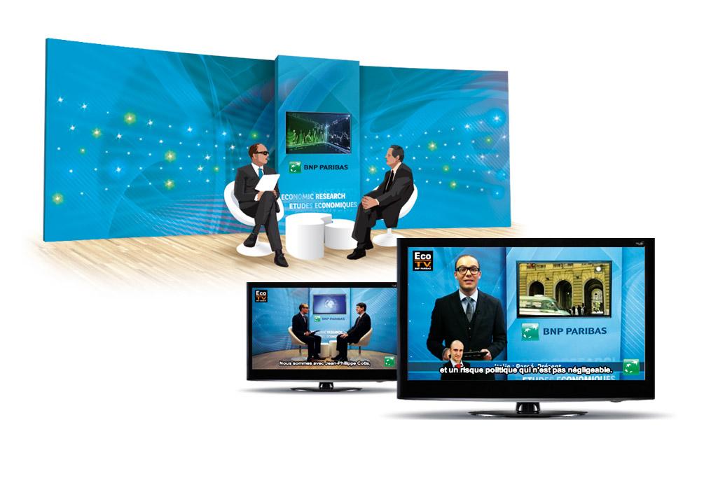 BNP Paribas • Décor Plateau TV