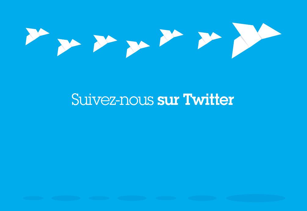 Agence design graphique tours - Suivez nous sur Twitter
